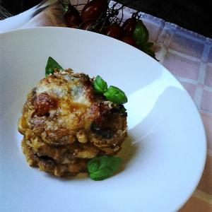 Parmigiana di pomodori verdi