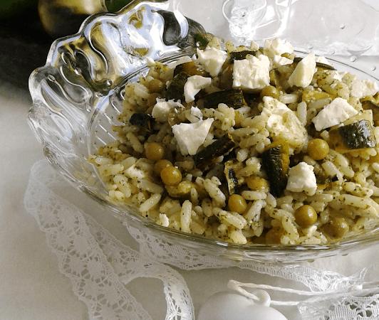 Insalata di riso in verde con feta