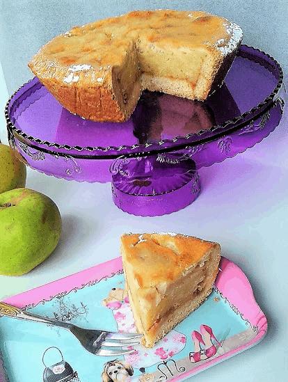 Tortina di mele  alle mandorle